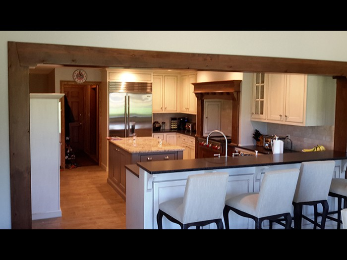 custom kitchen with Alder wood Accents